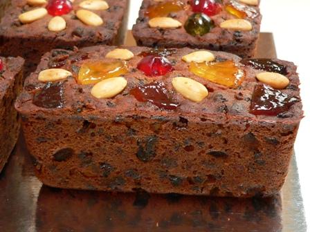 Mini Christmas Fruit Cakes | Fig Jam and Lime Cordial