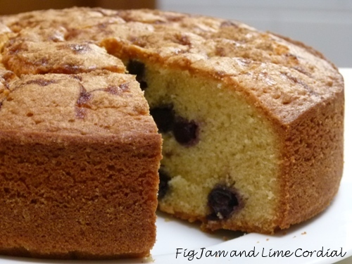 Food Processor Pound Cakes | Fig Jam and Lime Cordial