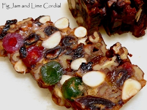 Christmas Fruit and Nut Cakes Fig Jam and Lime Cordial
