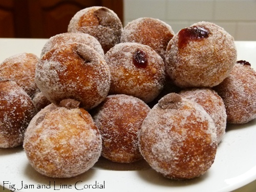 Nutella Doughnuts | Fig Jam and Lime Cordial