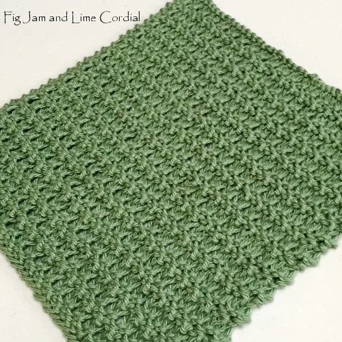 Knitted Dishcloth Pattern Fig Jam And Lime Cordial