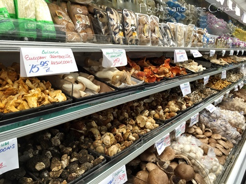 I actually squealed out loud when I came across the mushroom display at Berkeley Bowl West.
