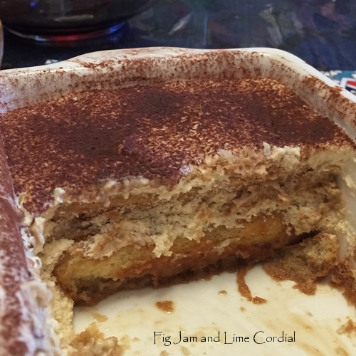 Irish Cream Tiramisu | Fig Jam and Lime Cordial
